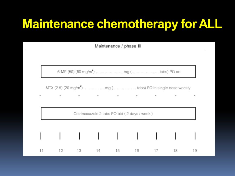 Maintenance chemotherapy for ALL
