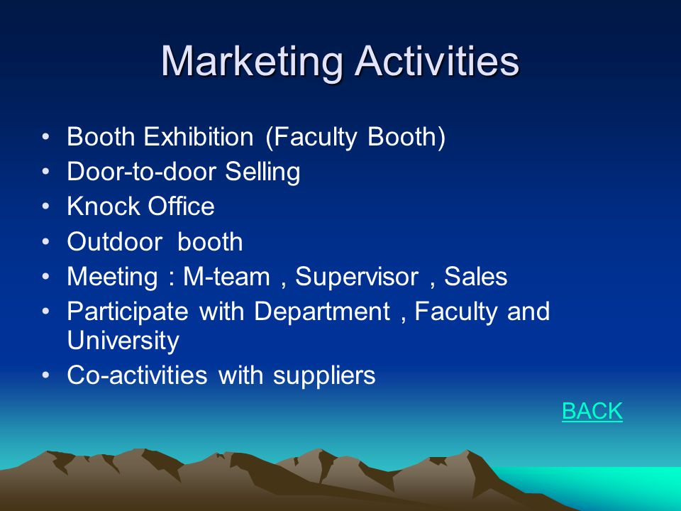 Marketing Activities Booth Exhibition (Faculty Booth)