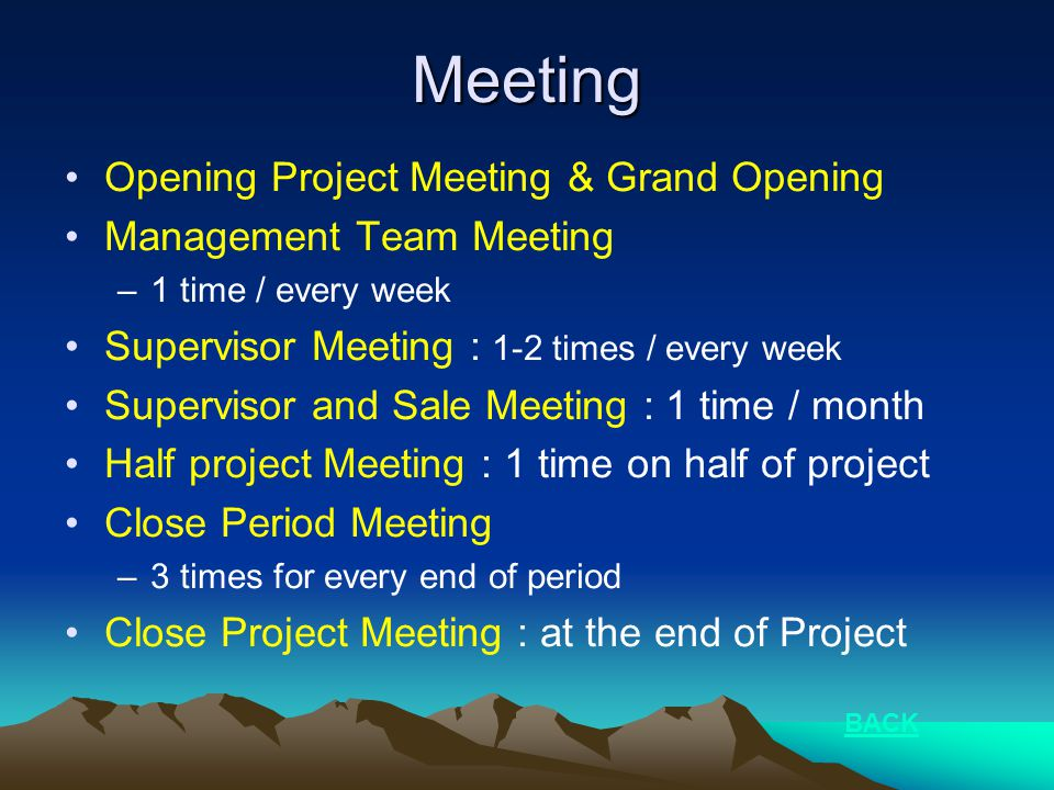 Meeting Opening Project Meeting & Grand Opening