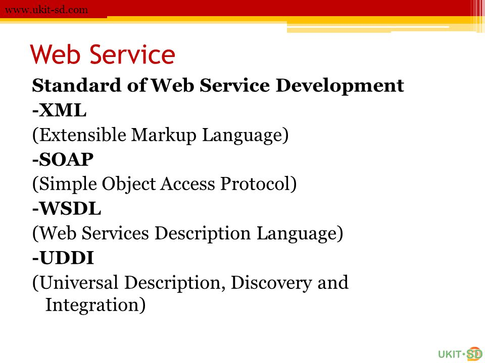 Web Service Standard of Web Service Development -XML