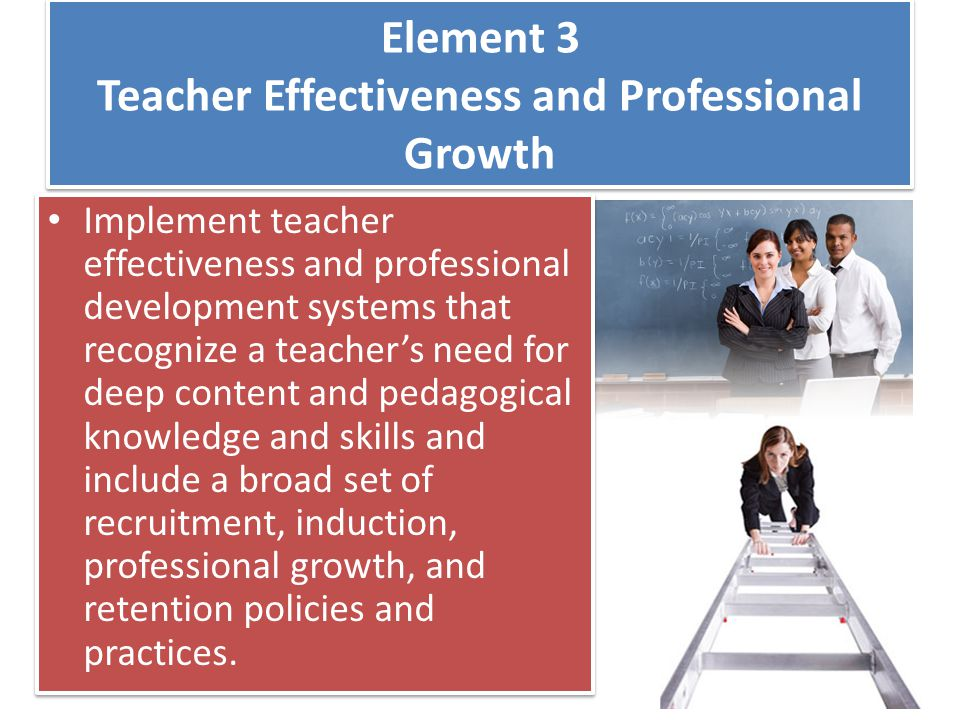Element 3 Teacher Effectiveness and Professional Growth