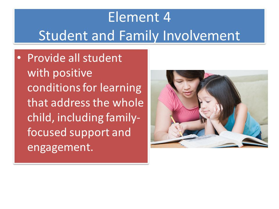 Element 4 Student and Family Involvement