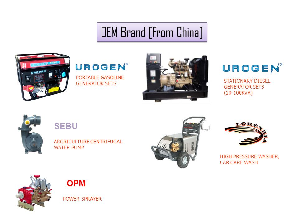 OEM Brand [From China] SEBU OPM 6 PORTABLE GASOLINE GENERATOR SETS