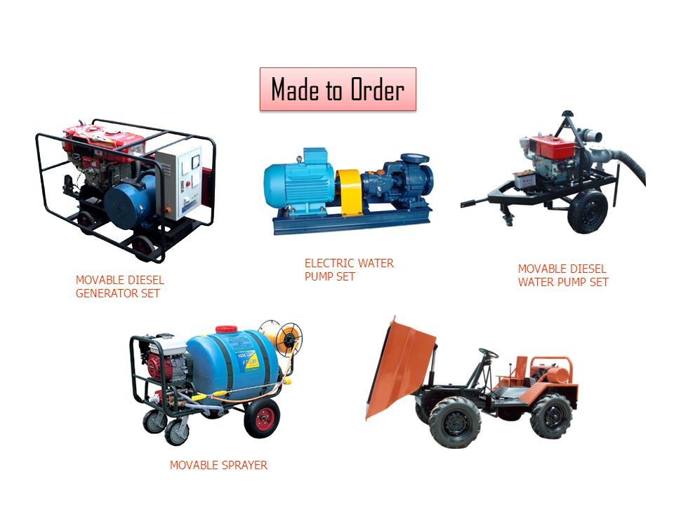 Made to Order 7 ELECTRIC WATER PUMP SET MOVABLE DIESEL WATER PUMP SET