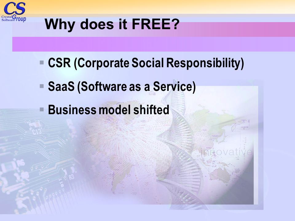 Why does it FREE CSR (Corporate Social Responsibility)