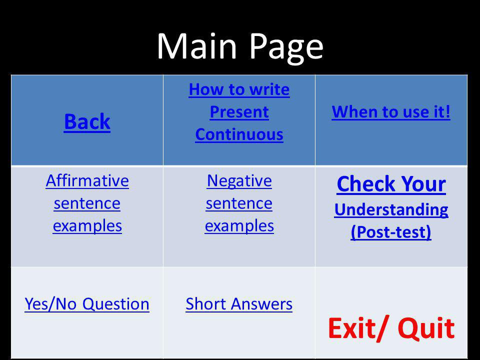 How to write Present Continuous Check Your Understanding