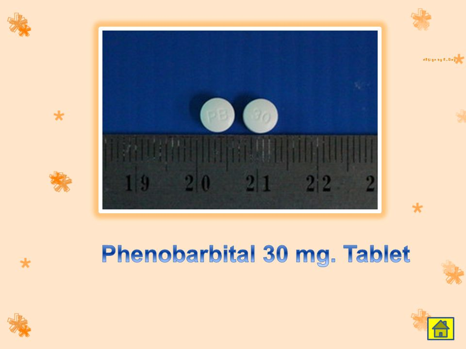 Phenobarbital 30 mg. Tablet