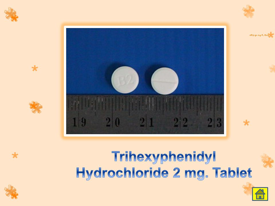 Trihexyphenidyl Hydrochloride 2 mg. Tablet