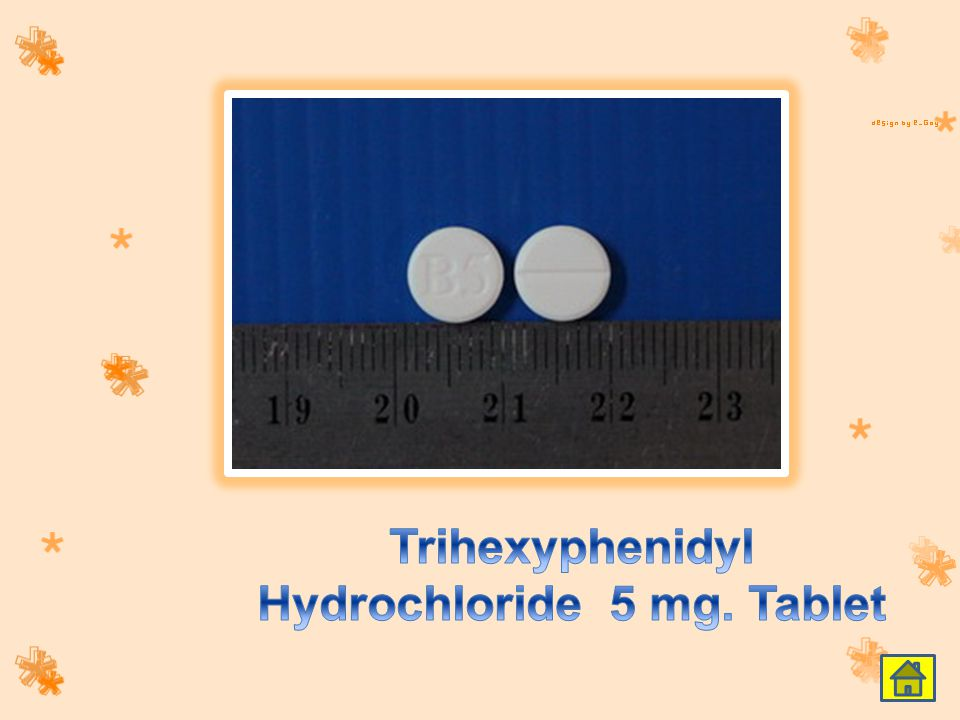 Trihexyphenidyl Hydrochloride 5 mg. Tablet