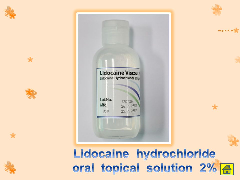 Lidocaine hydrochloride oral topical solution 2%