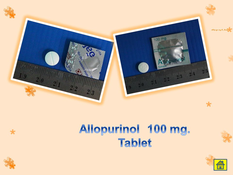 Allopurinol 100 mg. Tablet