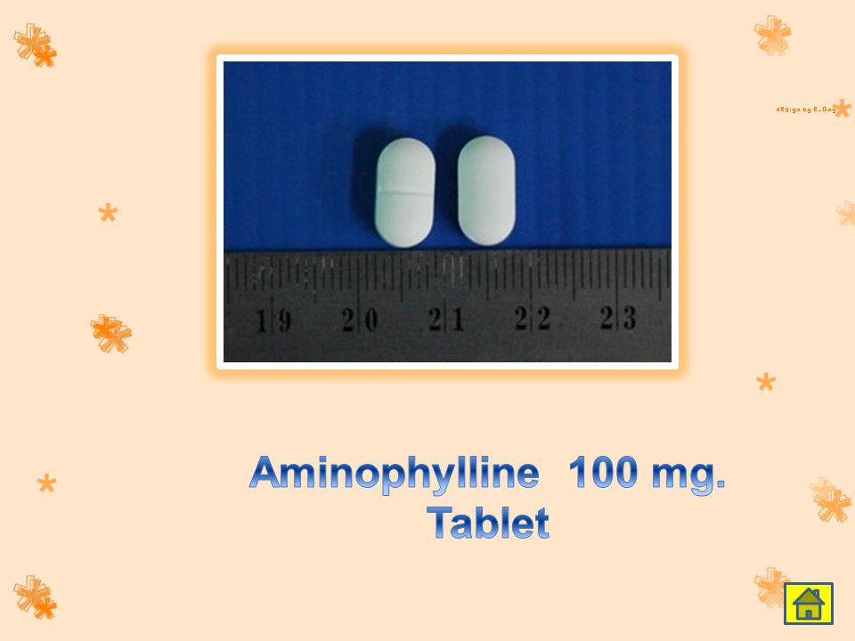 Aminophylline 100 mg. Tablet