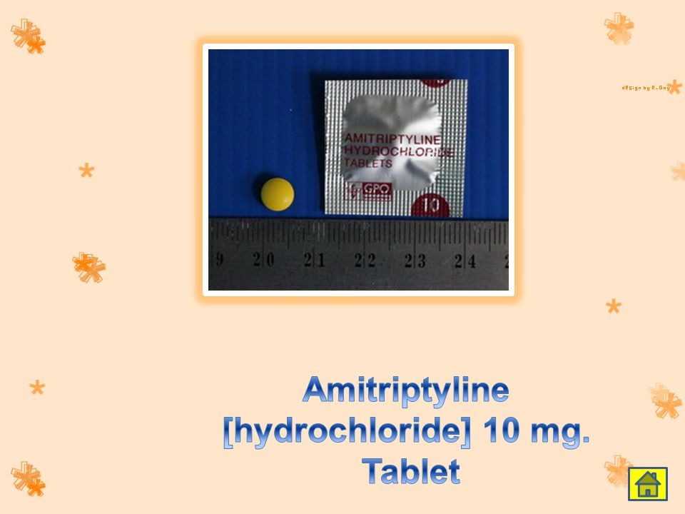 Amitriptyline [hydrochloride] 10 mg. Tablet