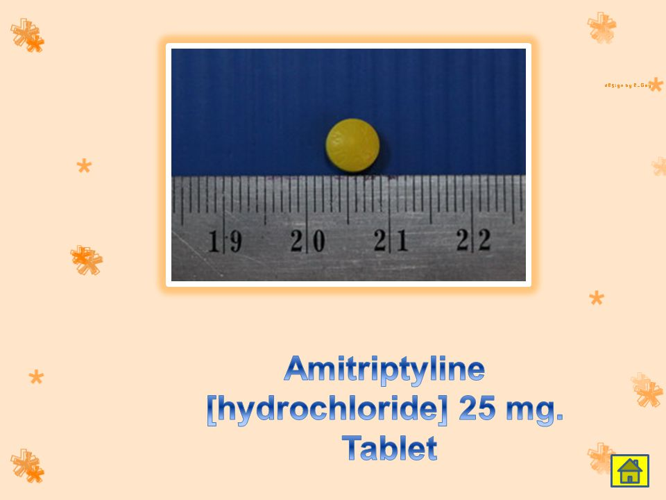 Amitriptyline [hydrochloride] 25 mg. Tablet