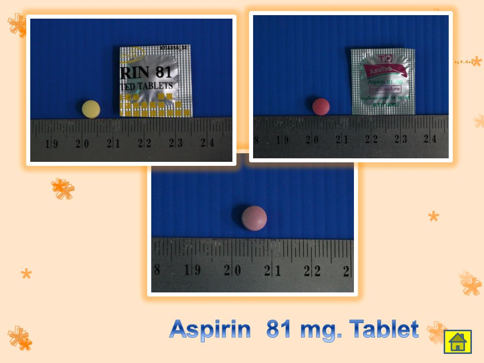 Aspirin 81 mg. Tablet