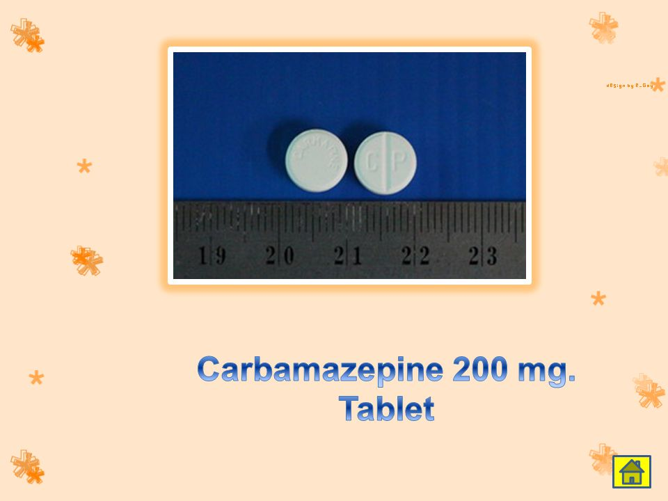 Carbamazepine 200 mg. Tablet