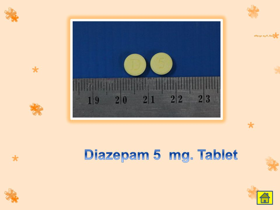 Diazepam 5 mg. Tablet