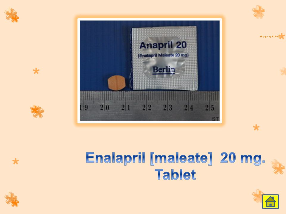 Enalapril [maleate] 20 mg. Tablet