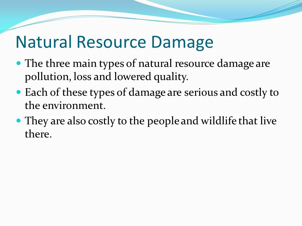 Natural Resource Damage