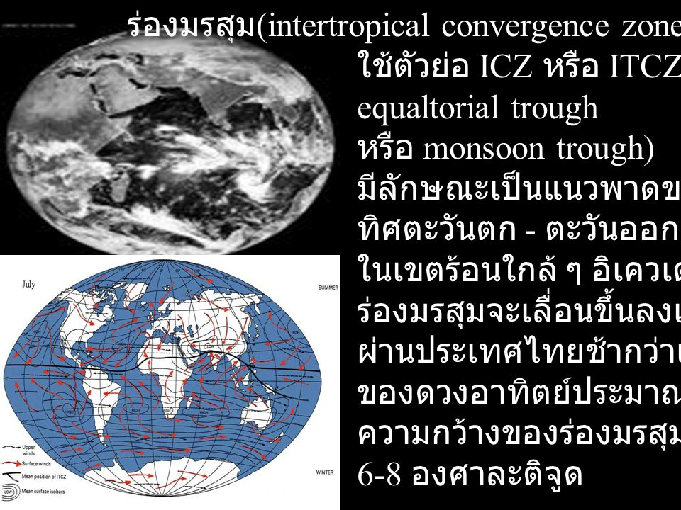 ร่องมรสุม(intertropical convergence zone)
