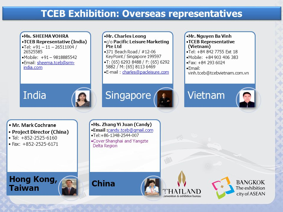 TCEB Exhibition: Overseas representatives