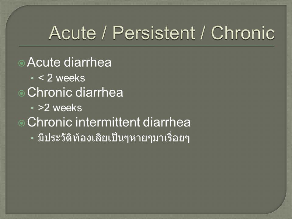 Acute / Persistent / Chronic