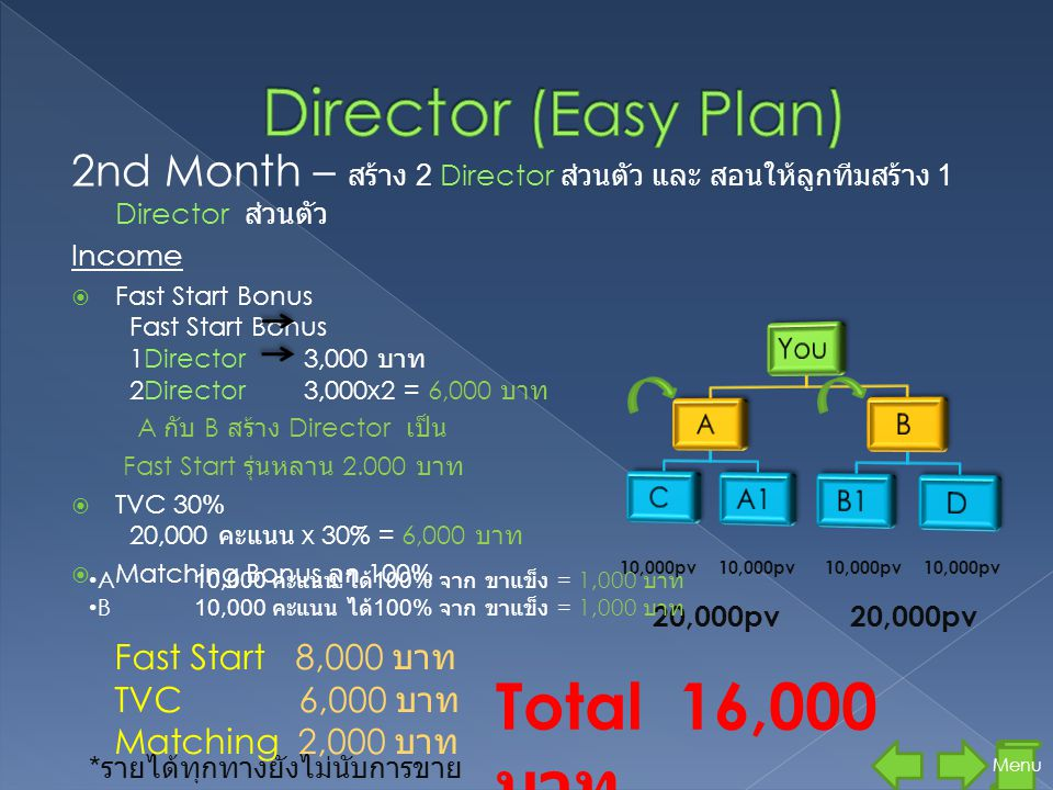 Director (Easy Plan) Total 16,000 บาท