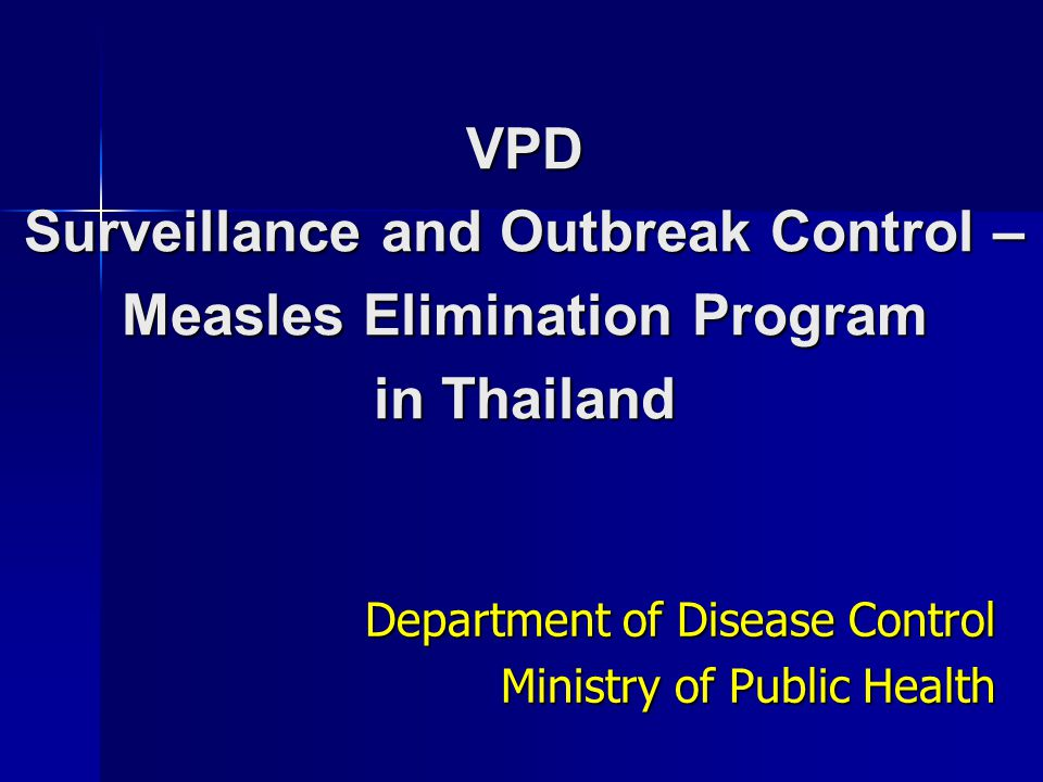 Department of Disease Control Ministry of Public Health