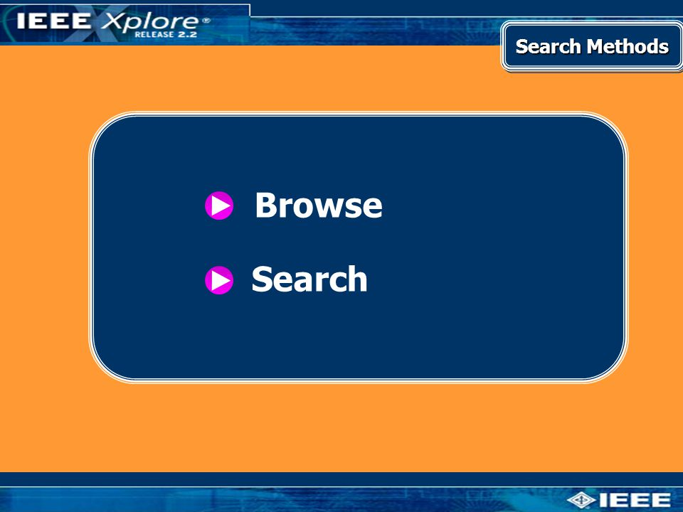 Search Methods Browse Search
