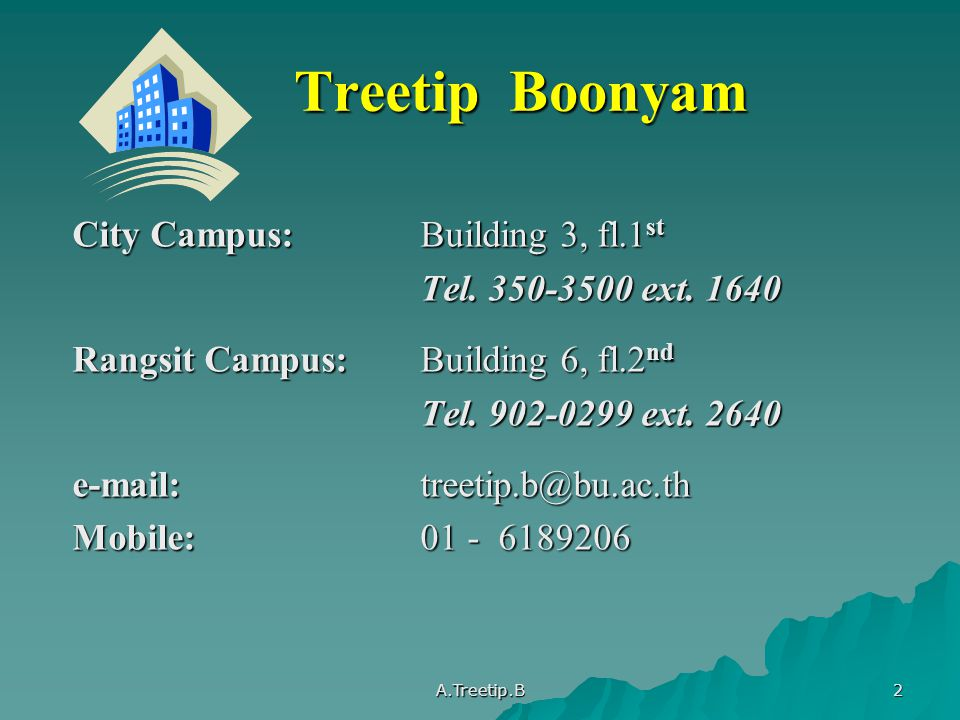 Treetip Boonyam City Campus: Building 3, fl.1st