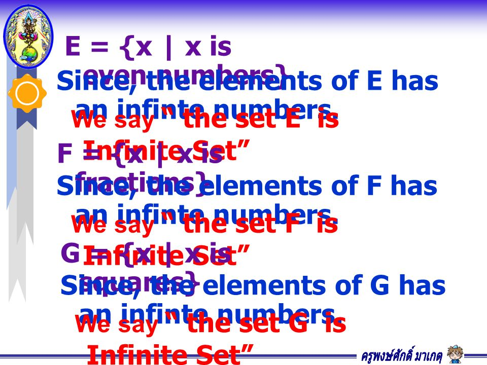 E = {x | x is even numbers}