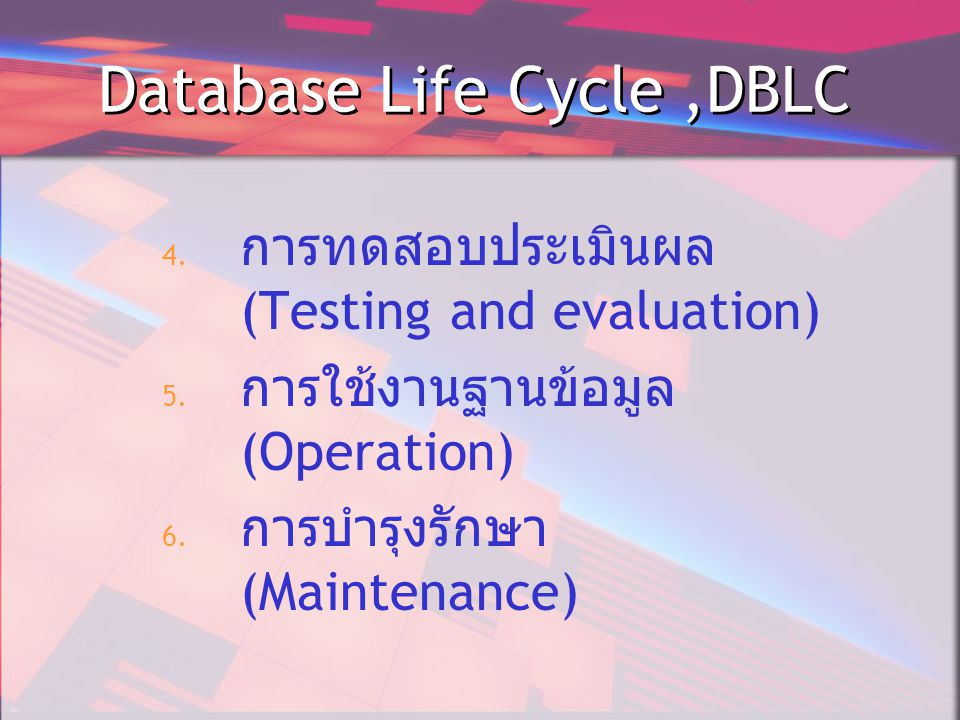 Database Life Cycle ,DBLC