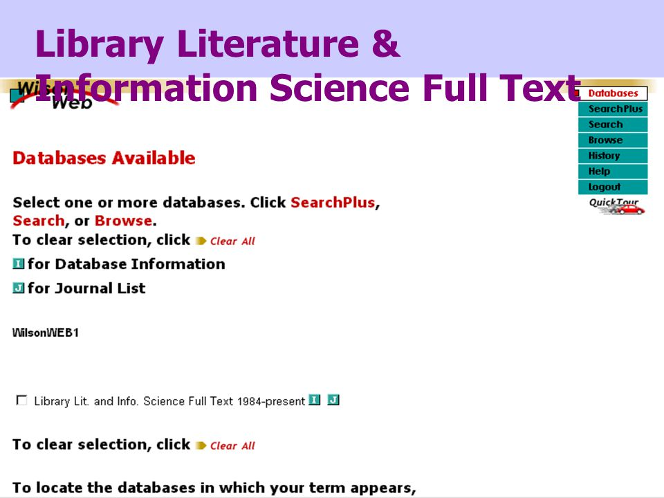 Library Literature & Information Science Full Text