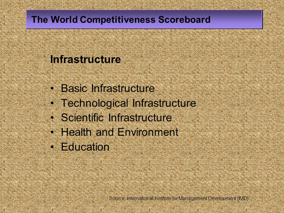 Technological Infrastructure Scientific Infrastructure