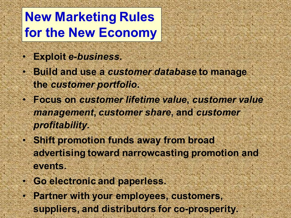 New Marketing Rules for the New Economy