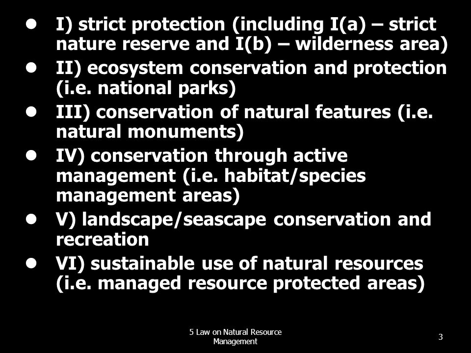 5 Law on Natural Resource Management
