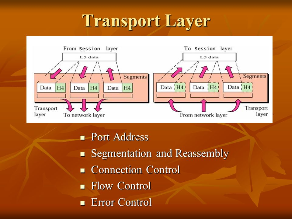 Transport Layer Port Address Segmentation and Reassembly
