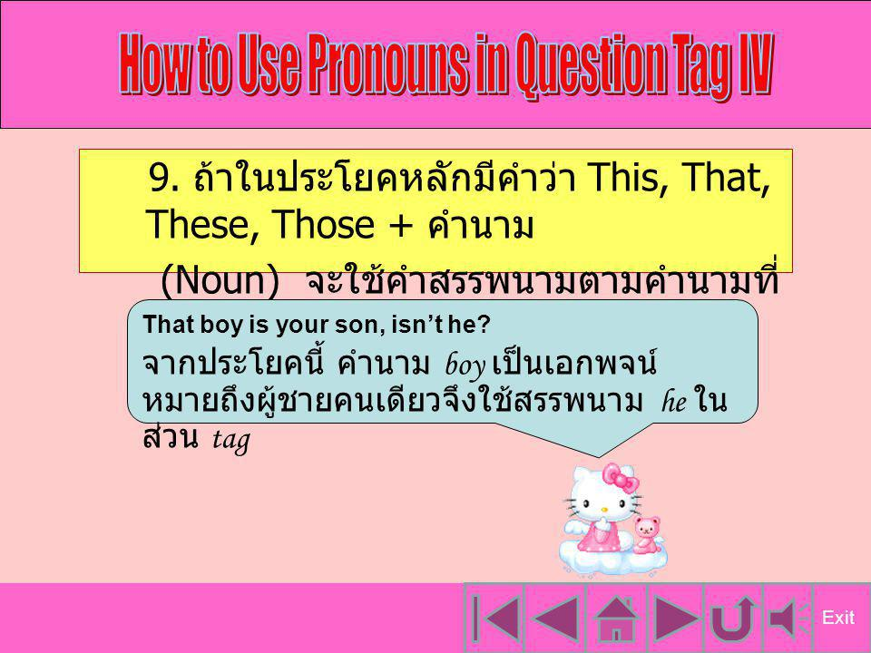 How to Use Pronouns in Question Tag IV