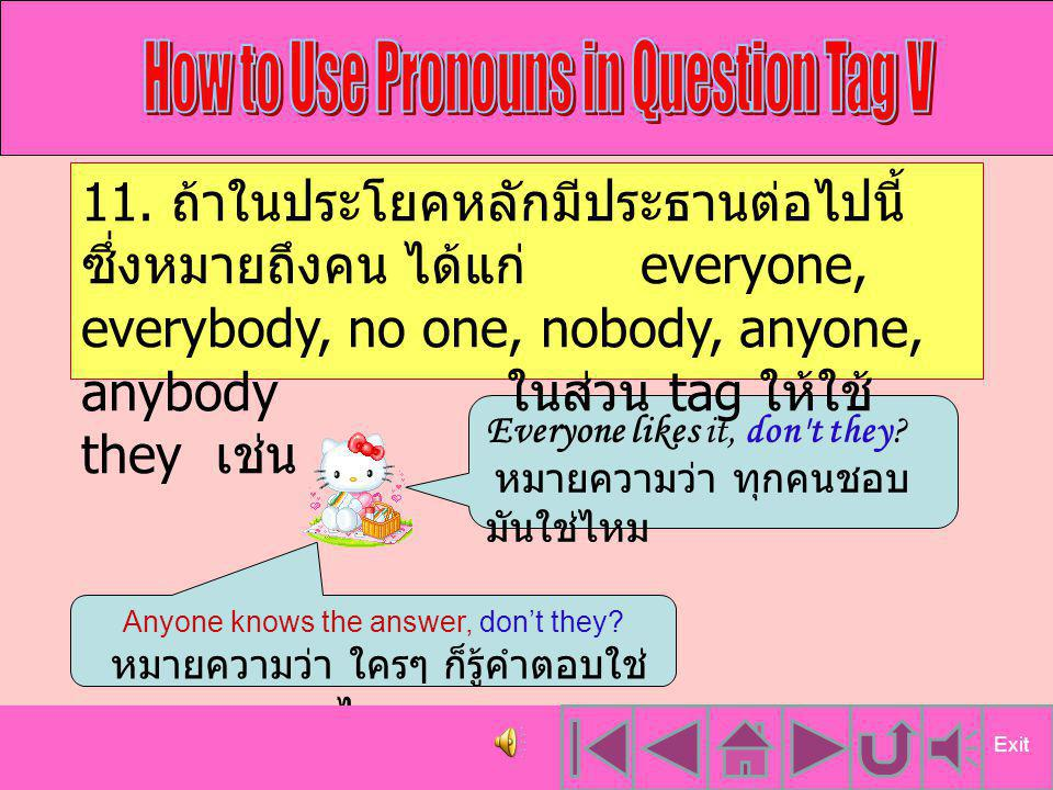 How to Use Pronouns in Question Tag V