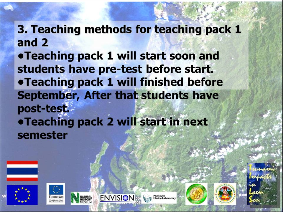 3. Teaching methods for teaching pack 1 and 2