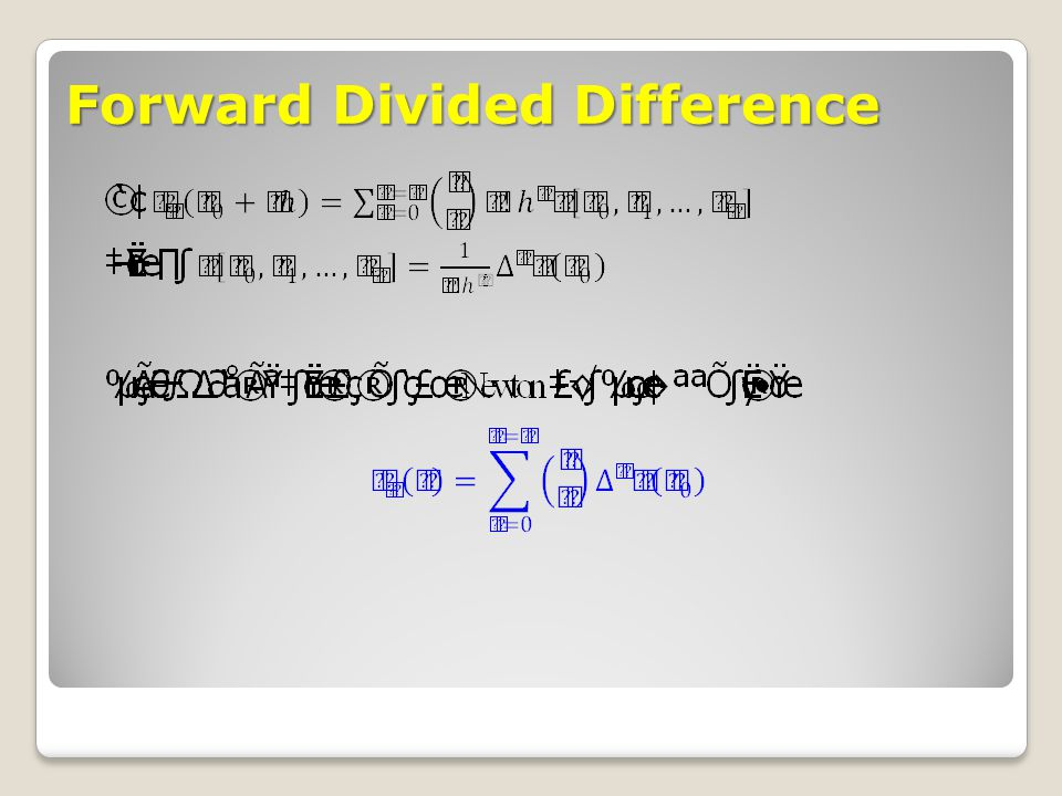 Forward Divided Difference