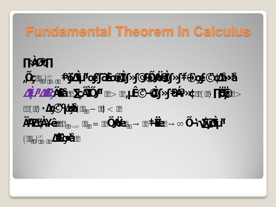Fundamental Theorem in Calculus
