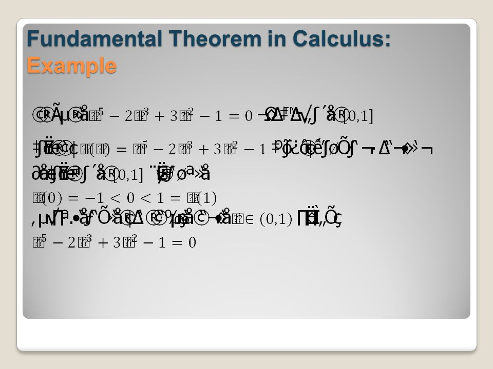 Fundamental Theorem in Calculus: Example