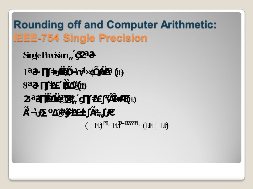 Rounding off and Computer Arithmetic: IEEE-754 Single Precision