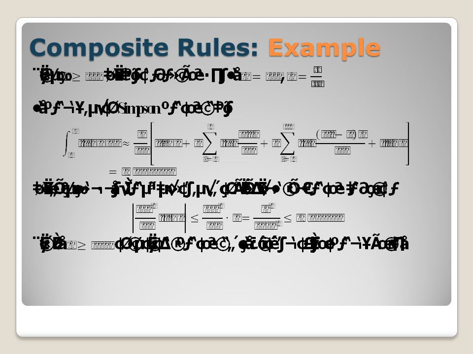 Composite Rules: Example