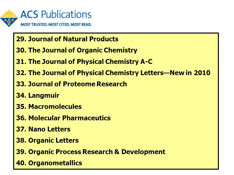 29. Journal of Natural Products