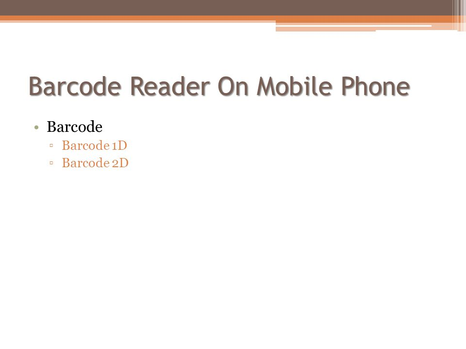 Barcode Reader On Mobile Phone