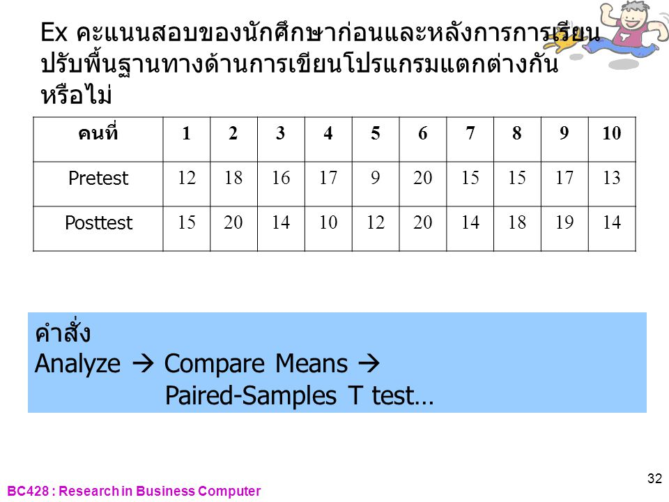 Analyze  Compare Means  Paired-Samples T test…