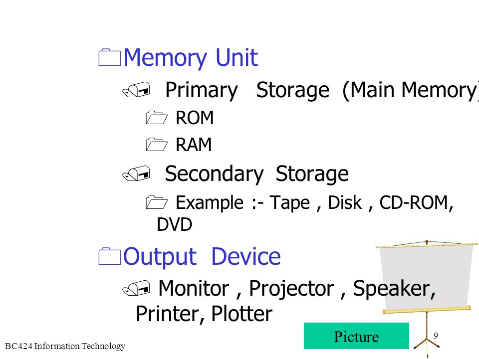 Memory Unit Output Device Primary Storage (Main Memory)