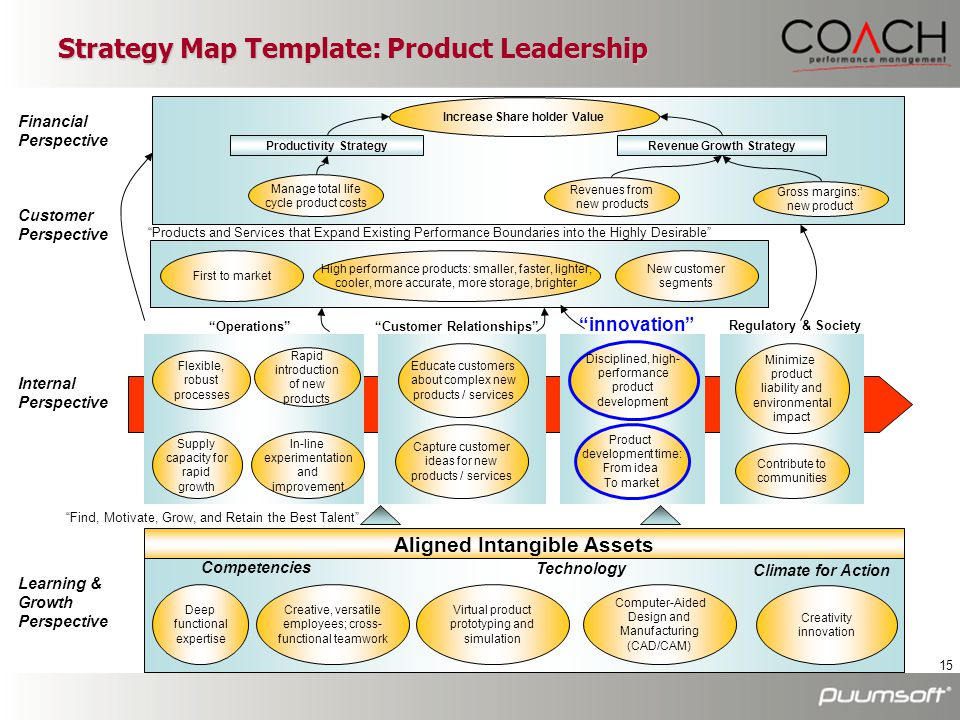 Strategy Map Template: Product Leadership